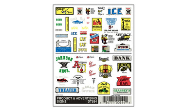 WOODLAND SCENICS Dry Transfer, Product/Advertising Signs