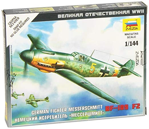 Zvezda 6116 1/144 Messerschmitt Bf 109F-2 Plastic Model Kit