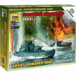 Zvezda 6164 1/350 Sov.Armored Boat Plastic Model Kit