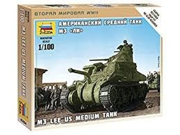 Zvezda 6264 1/100 M-3 Lee Plastic Model Kit