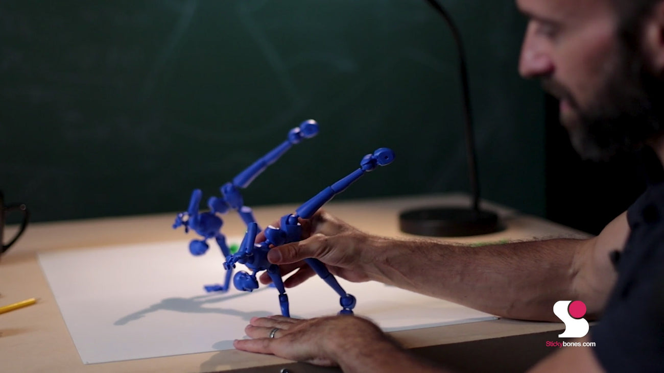 Poseable Magnetic Figures for Drawing and Animation by Stickybones