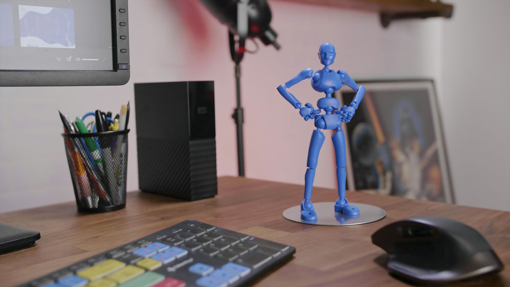 One Stickybones—The Precision Art & Animation Figure (Spark Blue)