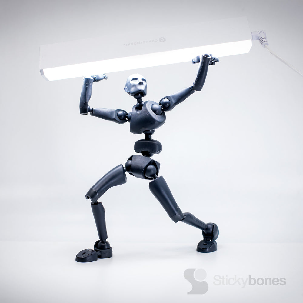 Stickybones—The Precision Art & Animation Figure (Spark Blue)