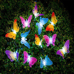 Solar Powered Butterfly Fairy String Lights