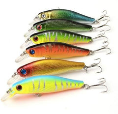 6pc Colorful Fishing Artificial Baits - 6pc Colorful Fishing Artificial Baits