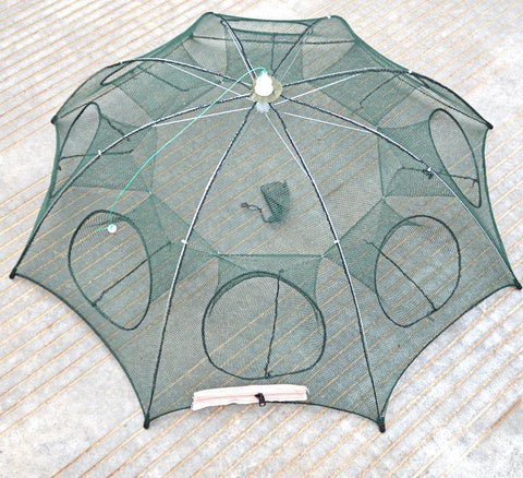 Folding Fishing Net 8 Hole Catcher