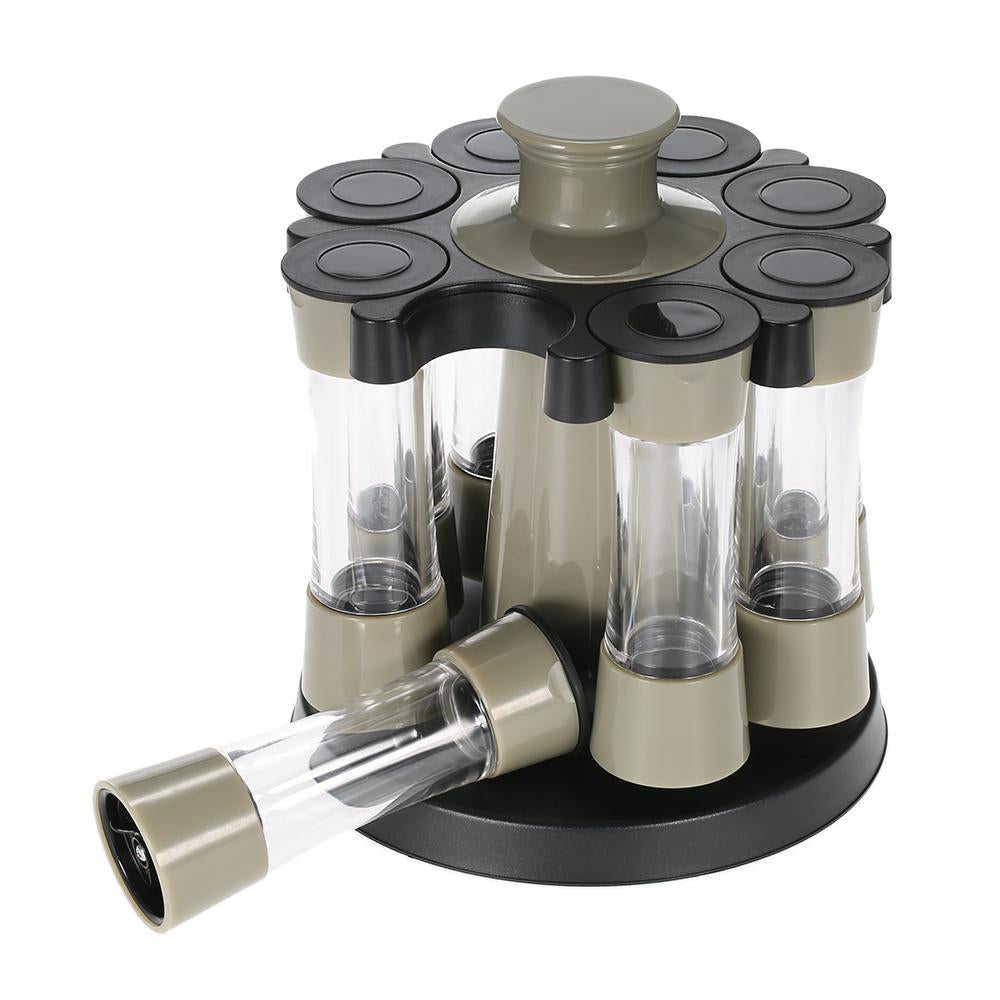 Elegant Rotating Spice Bottles