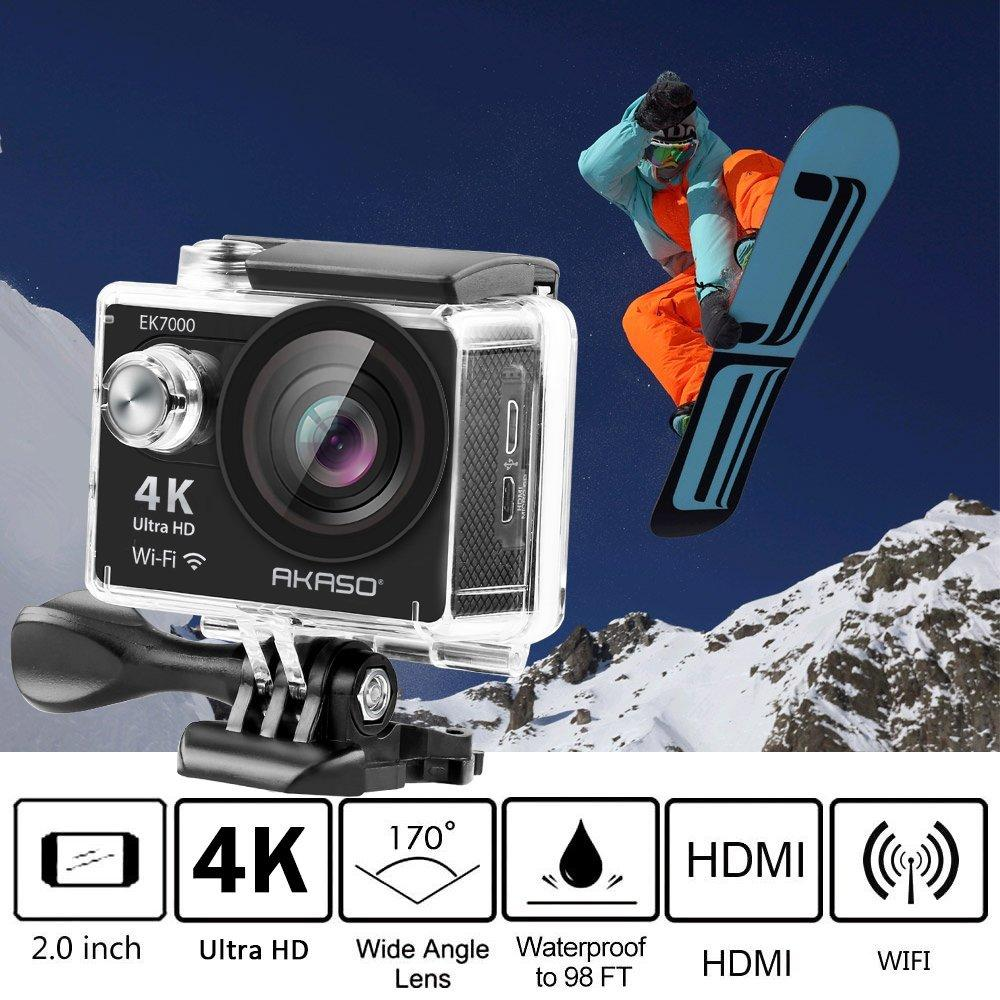 4K WIFI Outdoor WIFI Ultra HD Waterproof DV Camera Camcorder 12MP 170 Degree Wide Angle