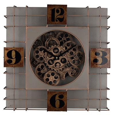Contemporary Style Metallic Square Clock