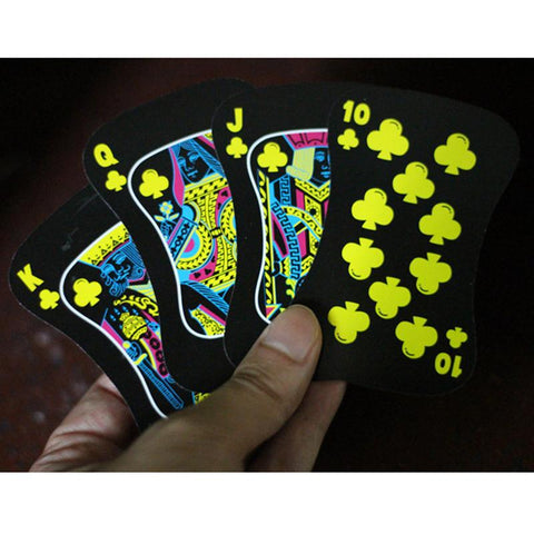 Fluorescent Nightclub Poker Cards