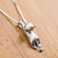 "Charming ""Hang In There"" Cat Necklace"