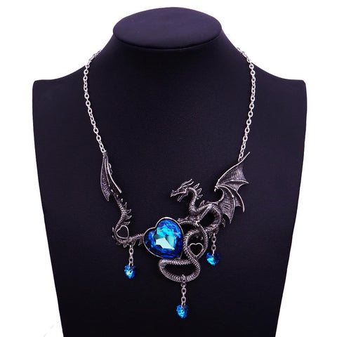 Sapphire Dragon Heart Necklace
