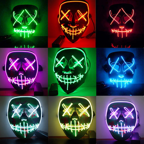 Halloween DJ Marshmello Mask Inspired LED Light
