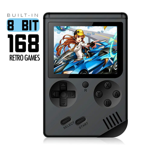 Classic 8 Bit Retro Pocket Handheld Game Player w/ 168 built-in Classic Games (Best Gift for Children)