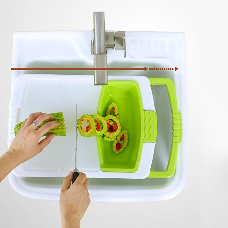 Multi-functional Kitchen Chopping Board (Sink / Drain Feature)