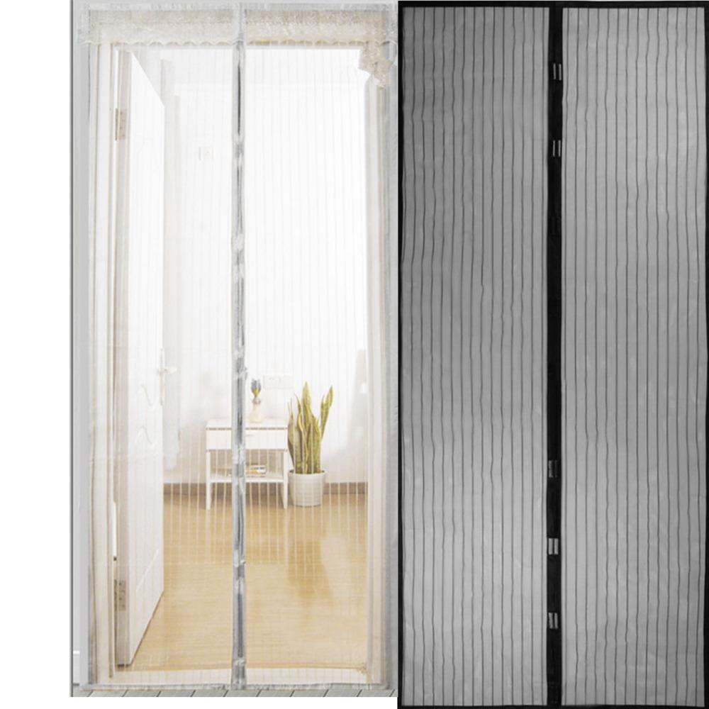 Anti Insect Curtain Door Screen - Magnetic Mesh Automatic Closing