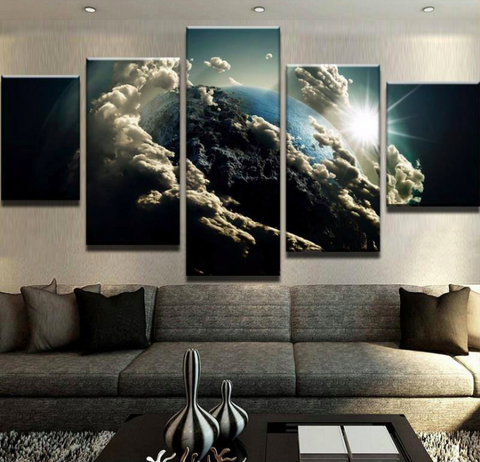 Earth 5 Piece Canvas Limited Edition
