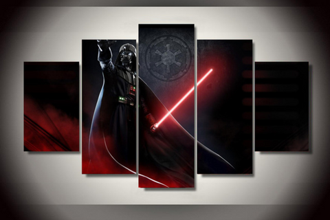 Darth Vader 5 Piece Canvas Limited Edition