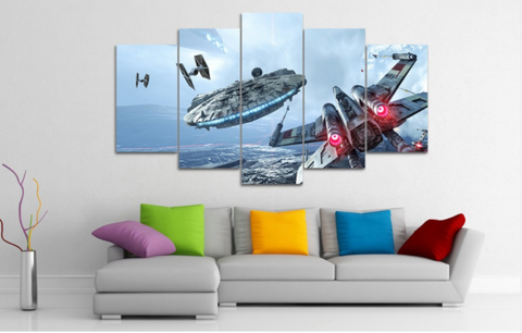 Millennium Falcon X-Wing 5 Piece Canvas Limited Edition