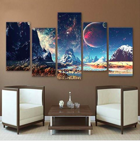 Cool Space 5 Piece Canvas Limited Edition