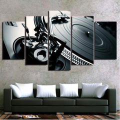 DJ Turntable 5 Piece Canvas Limited Edition