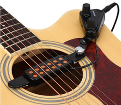 12-hole Acoustic Guitar Magnetic Transducer With Tone Volume Controller