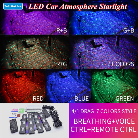 Sound Recognition CAR SEAT RGB LED Light Strips