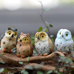 Cute Owls Miniature Figurine  Terrarium Decor