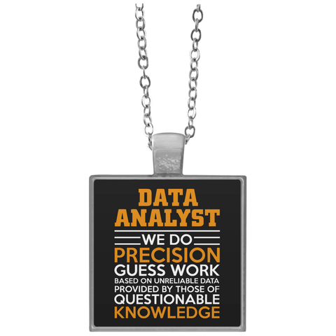 Accessories - Data Analyst Square Necklace