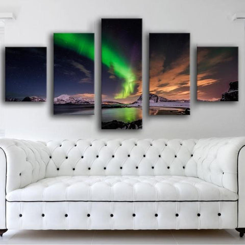 Aurora Borealis 5 Piece Canvas Limited Edition - Aurora Borealis 5 Piece Canvas Limited Edition
