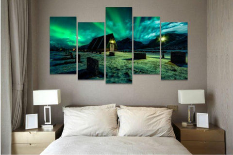 Aurora Borealis Canvas - Aurora Borealis 5 Piece Canvas Limited Edition