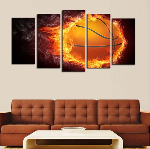BasketBall 5 Piece Canvas Limited Edition - BasketBall 5 Piece Canvas Limited Edition