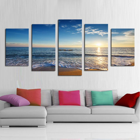 Beach 5 Piece Canvas Limited Edition - Beautiful Beach 5 Piece Canvas Limited Edition