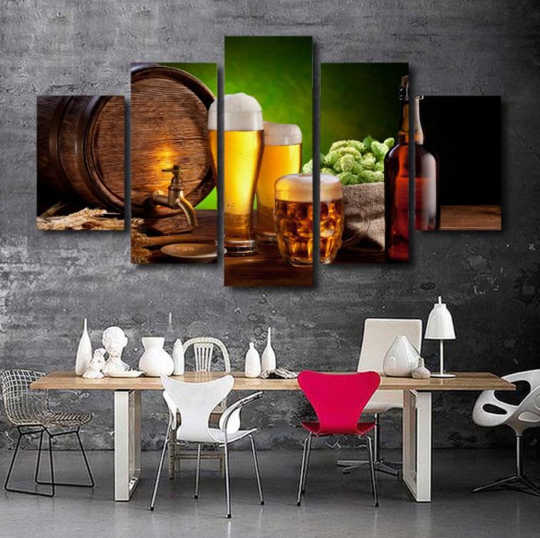 Beer 5 Piece Canvas Limited Edition - Beer 5 Piece Canvas Limited Edition