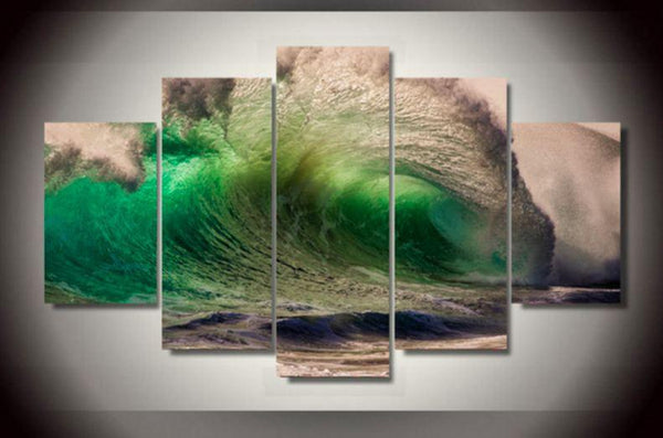 Big Waves 5 Piece Canvas Limited Edition - Big Waves 5 Piece Canvas Limited Edition