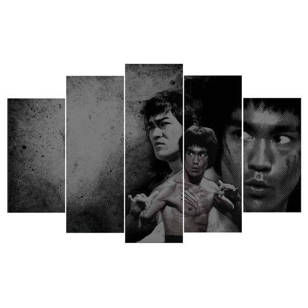 Bruce Lee 5 Piece Canvas Limited Edition - Bruce Lee 5 Piece Canvas Limited Edition