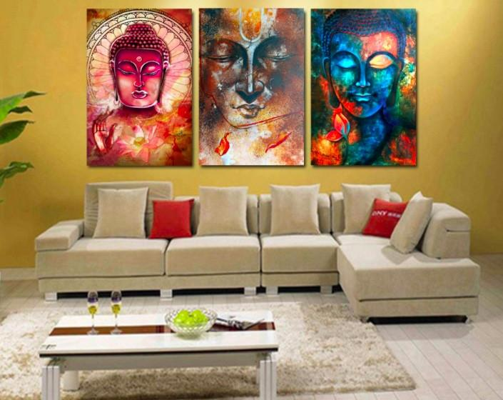 Buddha 3 Piece Canvas Limited Edition - Buddha 3 Piece Canvas Limited Edition