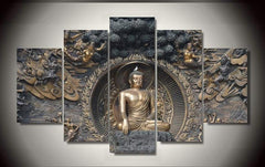 Buddha 5 Piece Canvas - Buddha 5 Piece Canvas Limited Edition