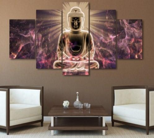 Buddha 5 Piece Canvas Limited Edition - Buddha 5 Piece Canvas Limited Edition