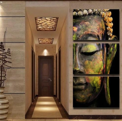 Buddha - Buddha 3 Piece Canvas Limited Edition
