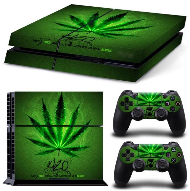 Cannabis Skin For PS4 + 2 Controllers - Cannabis Skin For PS4 + 2 Controllers