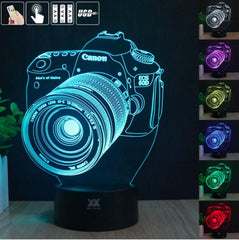 Canon Camera 3D LED Lamp - Canon Camera 3D LED Lamp