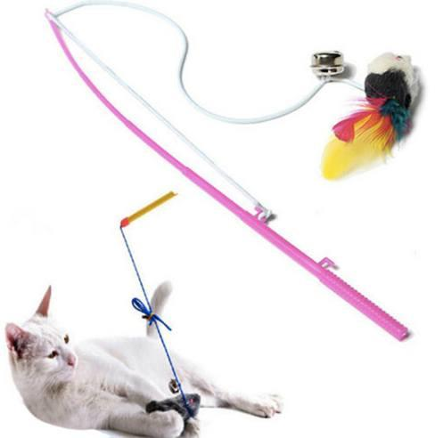 Cat Feather Wire Chaser Wand Teaser Toy - Cat Wire Chaser Wand Teaser Toy