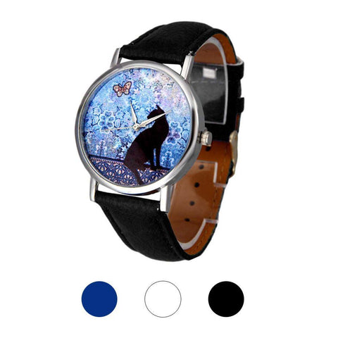 Cat Watch - Elegant Cat Leather Watch