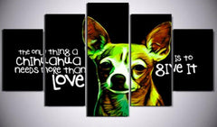 Chihuahua - Chihuahua 5 Piece Canvas Limited Edition