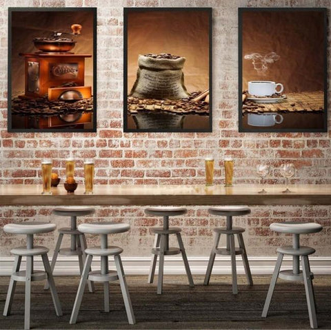 Coffee 3 Piece Canvas - Coffee 3 Piece Canvas