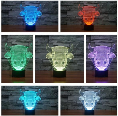 Cow 3D LED Lamp - Cow 3D LED Lamp