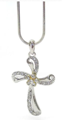 Crystal Cross Pendant Necklace - Crystal Cross Pendant Necklace