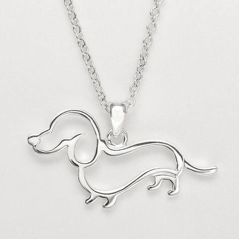 Dachshund Outline Necklace