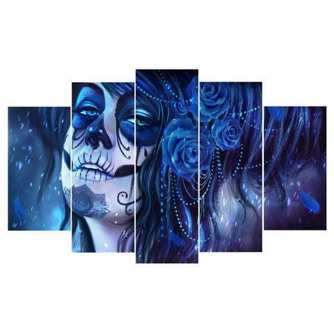 Day Of The Dead 5 Piece Canvas Limited Edition - Day Of The Dead 5 Piece Canvas Limited Edition